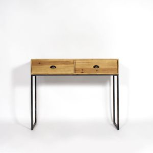 made in meubles console industrielle bois et m tal 2. Black Bedroom Furniture Sets. Home Design Ideas