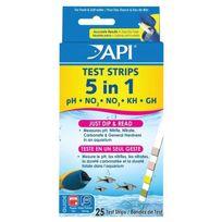 Api - 25 Bandes de test 5 in 1 Aq Test Strips Box - Pour aquarium