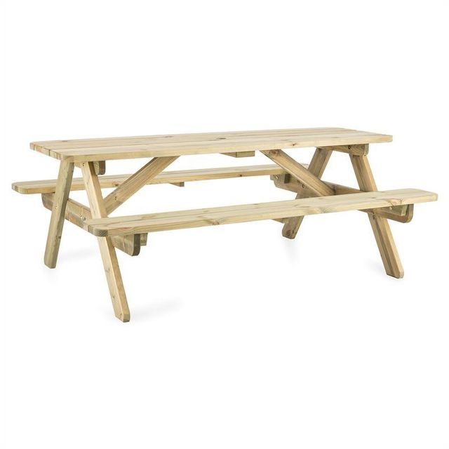 BLUMFELDT - 180 table pique-nique mobilier jardin table banc 32mm ...