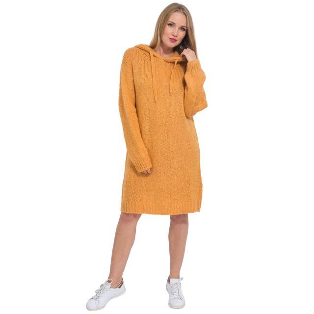 Arty Blush Robe pull en mohair à capuche