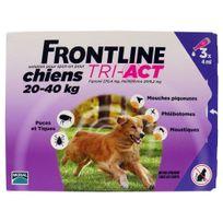 Frontline - Pipettes Tri-Act Triple Action pour Chien de 20 à 40Kg - 3x4ml
