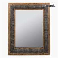 Homania - Miroir Carré Bronze Argent - Collection Vintage by