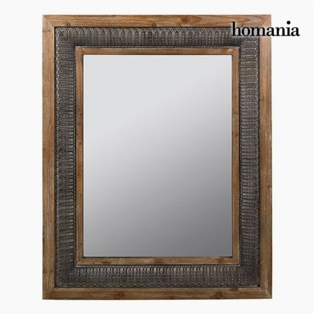 Homania Miroir Carré Bronze Argent - Collection Vintage by