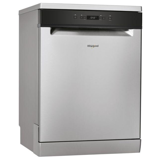 Whirlpool Lave-vaisselle pose libre WFC3B16X, 13 couverts, 60 cm, 46 dB, 5 programmes