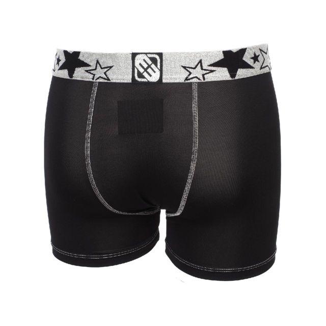 Freegun - Sous vêtement boxer Blacky argent/noir boxer Noir 26414