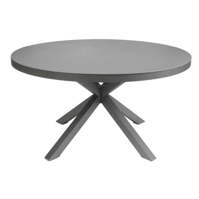 OZALIDE - Table de jardin ronde 6 Personnes Malaga - Diam. 140 cm ...