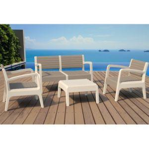 MARQUE GENERIQUE - Salon de jardin MIALI en PVC : 2 fauteuils, un ...