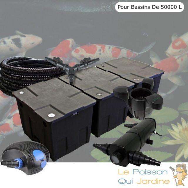 Le Poisson Qui Jardine Kit Filtration Complet 24W + Écumeur, Bassin De 50000 Litres