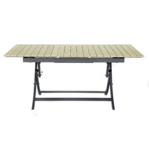 alin a eden table de jardin extensible pliante grise en polywood 6 8 places pas cher achat. Black Bedroom Furniture Sets. Home Design Ideas
