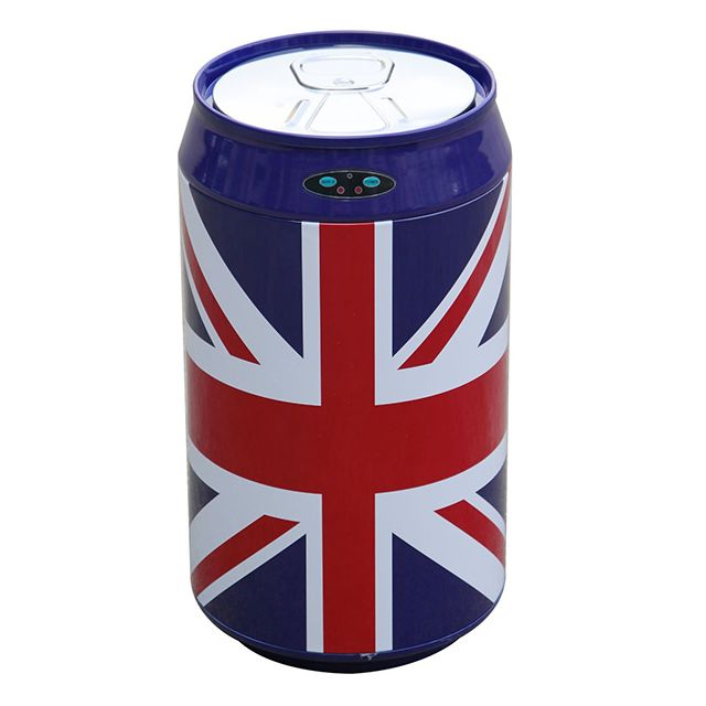 KITCHEN MOVE poubelle automatique 30l inox canette uk flag - bat-30lkukf