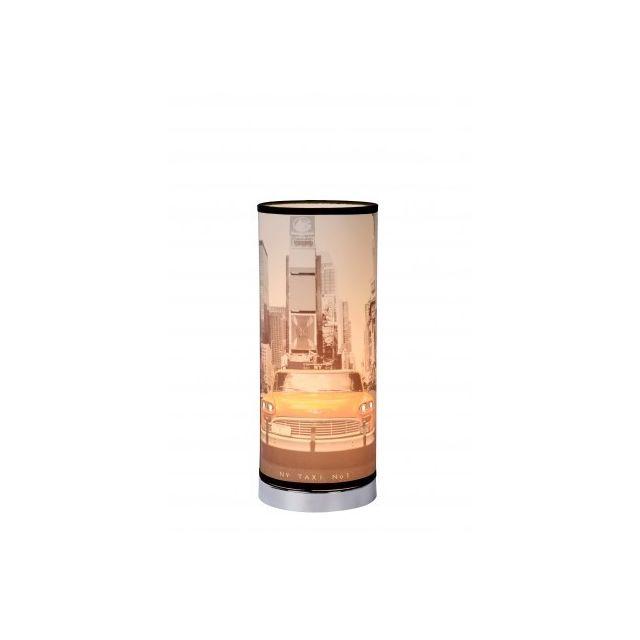 Lucide N.Y. Taxi - Lampe De Table - D15 cm - Multicolor
