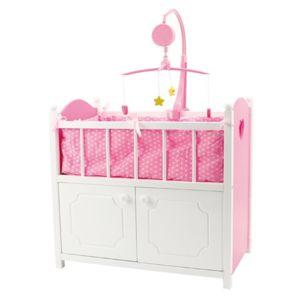 otto lit en bois avec armoire pour poup e 51 5 x 30 x 90. Black Bedroom Furniture Sets. Home Design Ideas