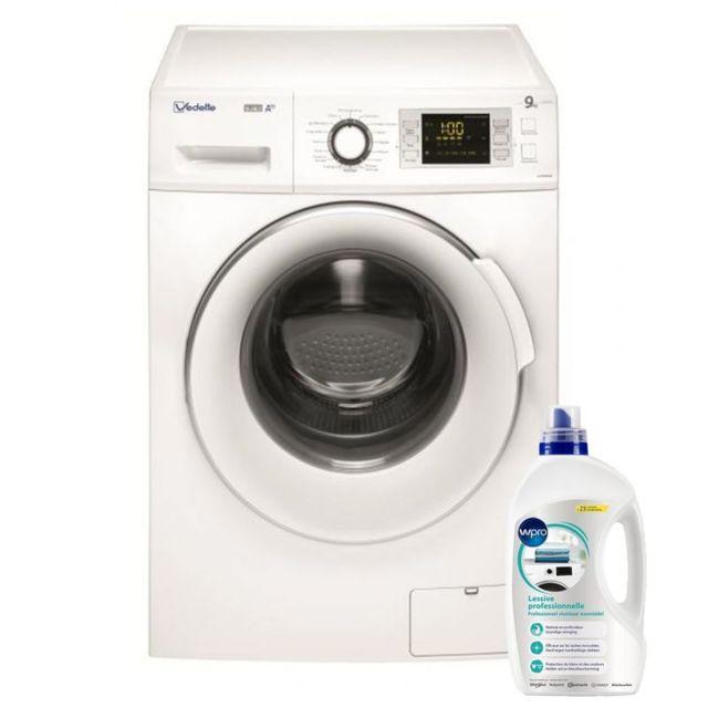 Vedette Lave-linge frontal 9kg A+++ 1400trs/min Tambour 64L Machine à laver hublot