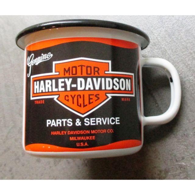 Universel Mug harley davidson genuine en email tasse à café emaillée