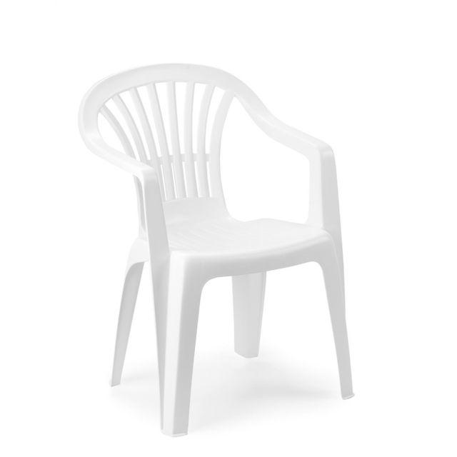 CARREFOUR ALTEA - Chaise de jardin - Blanc - 862678