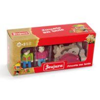 Jeujura - Fermiers et animaux 6 personnages en bois