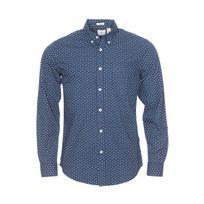 Dockers - Chemise cintrée bleu marine à motifs ancres blanches