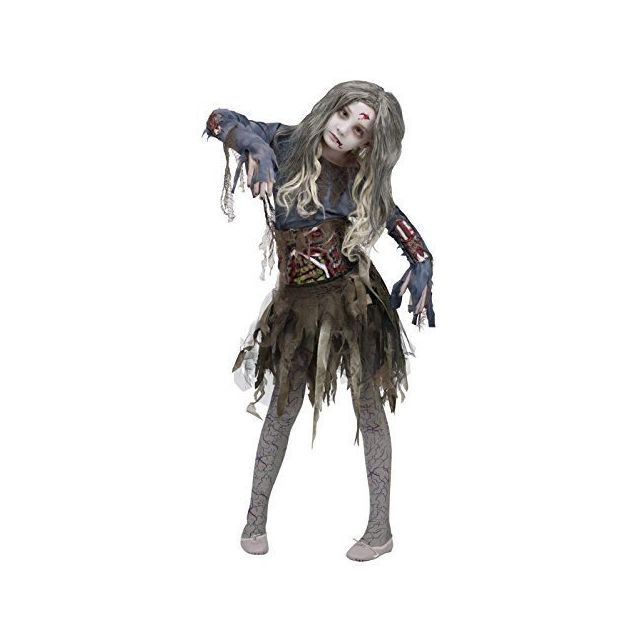 Fun World Zombie Costume Large 12 - 14 Multicolor