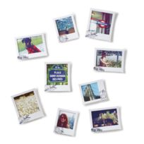 Umbra - Cadre photo polaroid avec tampon postal à coller - Lot de 9 Postal