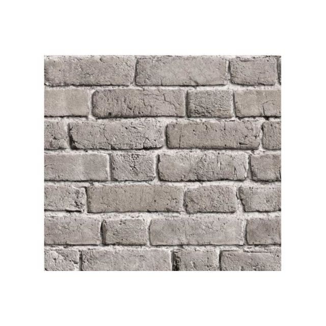 Declikdeco Papier Peint Briques Grises Cendrees Pas Cher Achat