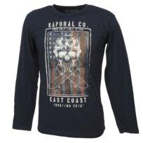 f93f429b60 Kaporal 5 - Tee shirt manches longues Modar navy ml tee jr Bleu 13849