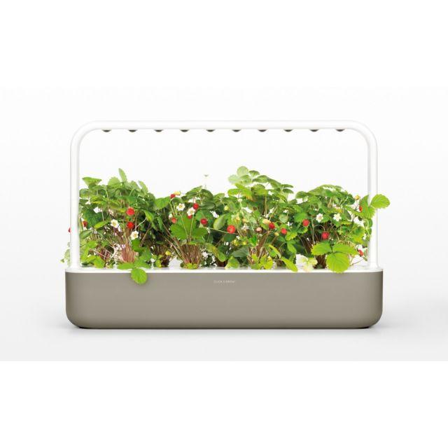 CLICK & GROW - Click&Grow Smart Garden 9, Jardinière avec LED - Antracite