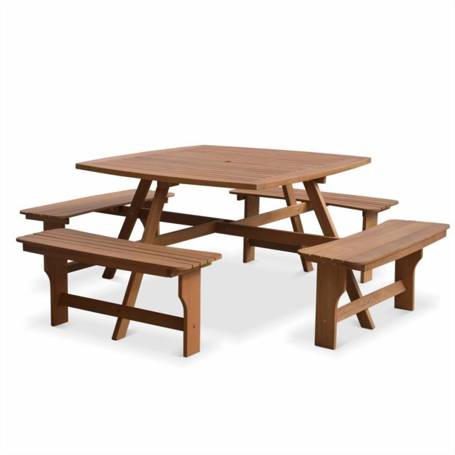 ALICE\'S GARDEN - Table de pique nique en bois 120cm - LLANCA - Table ...