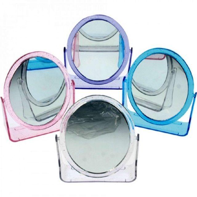 Coolminiprix Lot de 12 - Miroir oval double face 13cm coloris assortis - Qualité