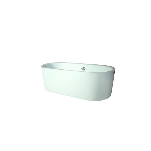 aqua baignoire ilot ovale monobloc oleron 80cm x 170cm pas cher achat vente baignoire. Black Bedroom Furniture Sets. Home Design Ideas