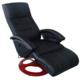 Rocambolesk - Superbe Fauteuil de relaxation massant noir Neuf