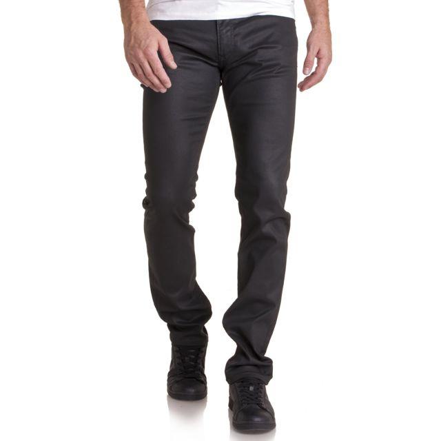 Teddy Smith - Jeans homme noir huilé - pas cher Achat   Vente Jeans ... 5710bc4b29b7