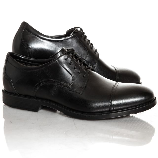 Cap Toe Achat Rockport Chaussures Noir Pas Vente Cher O8n0wPXk