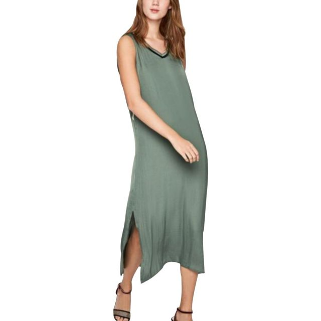 9ccc2816805 Pepe Jeans - Robe droite Melisa Vert - pas cher Achat   Vente Robes ...