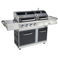 LE BARBECUE - Barbecue gaz GZ400 DUO - 4 brûleurs - 14 kW - 720-0917
