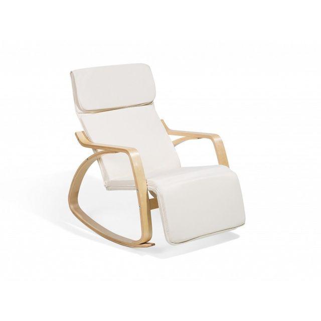 BELIANI - Chaise à bascule ivoire design contemporain - Weston N/A - N/A