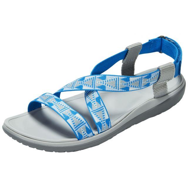 5d7f9c3b223 Teva - Terra-Float Livia - Sandales Femme - gris bleu - pas cher Achat   Vente  Sandales de marche - RueDuCommerce