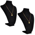 Rocambolesk - Superbe Présentoir buste d'exposition pour colliers en flanelle 2 pcs Neuf