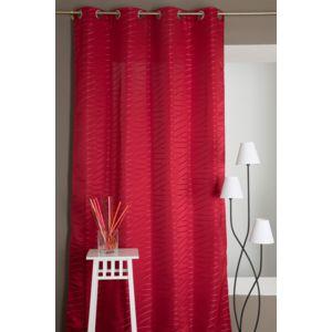 rideaudiscount rideau opaque rayures tiss es abstraites rouge pas cher achat vente. Black Bedroom Furniture Sets. Home Design Ideas
