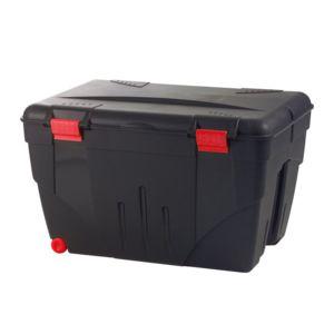 eda plastiques caisse de rangement avec couvercle malle roulettes trafic 200 l rouge noir. Black Bedroom Furniture Sets. Home Design Ideas