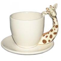 Deco-de-maison - Tasse à café anse en forme de Girafe