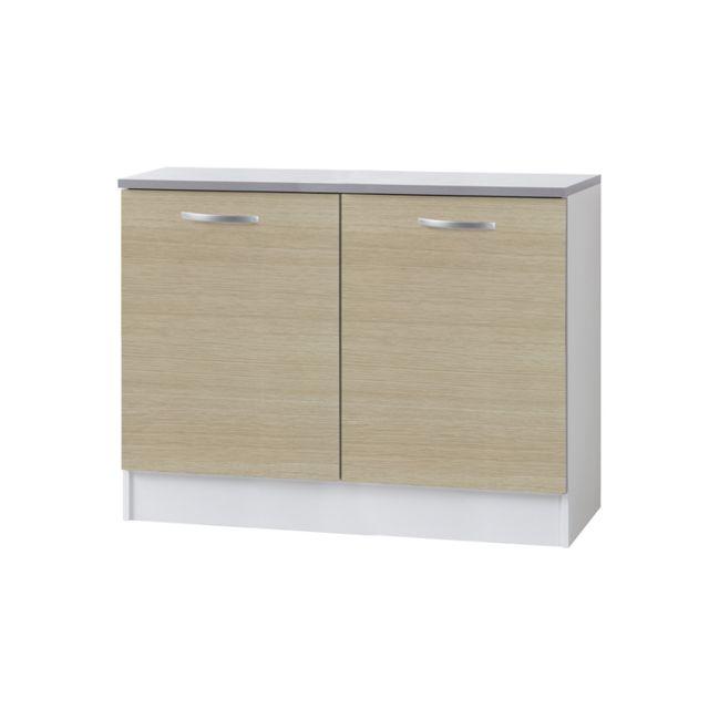 Last meubles sous vier poppy 120 cm pas cher achat vente meubles de cuisine rueducommerce - Meuble sous evier 120 cm pas cher ...
