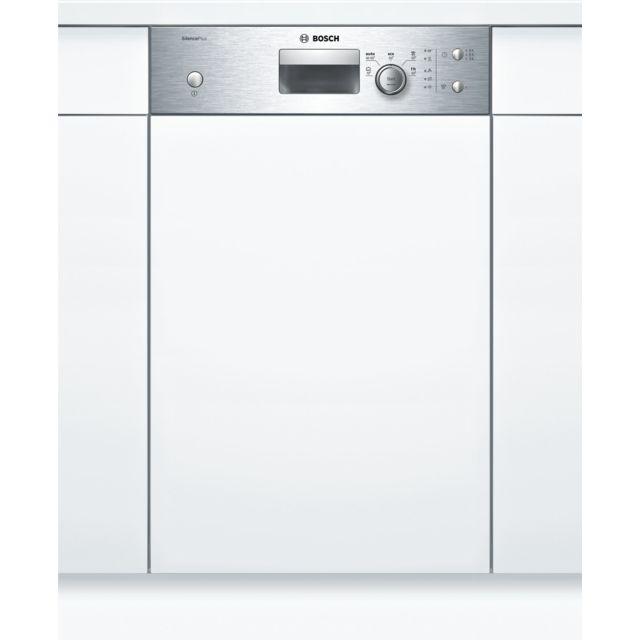 Bosch lave-vaisselle 45cm 9c 48db a+ intégrable avec bandeau inox - spi25cs00e