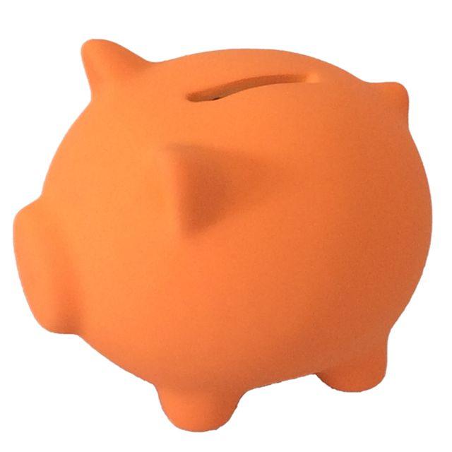 Out Of The Blue Mini tirelire cochon orange