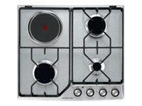 de dietrich table de cuisson mixte gaz et lectrique 60cm 4 feux inox dte1111x achat plaque. Black Bedroom Furniture Sets. Home Design Ideas