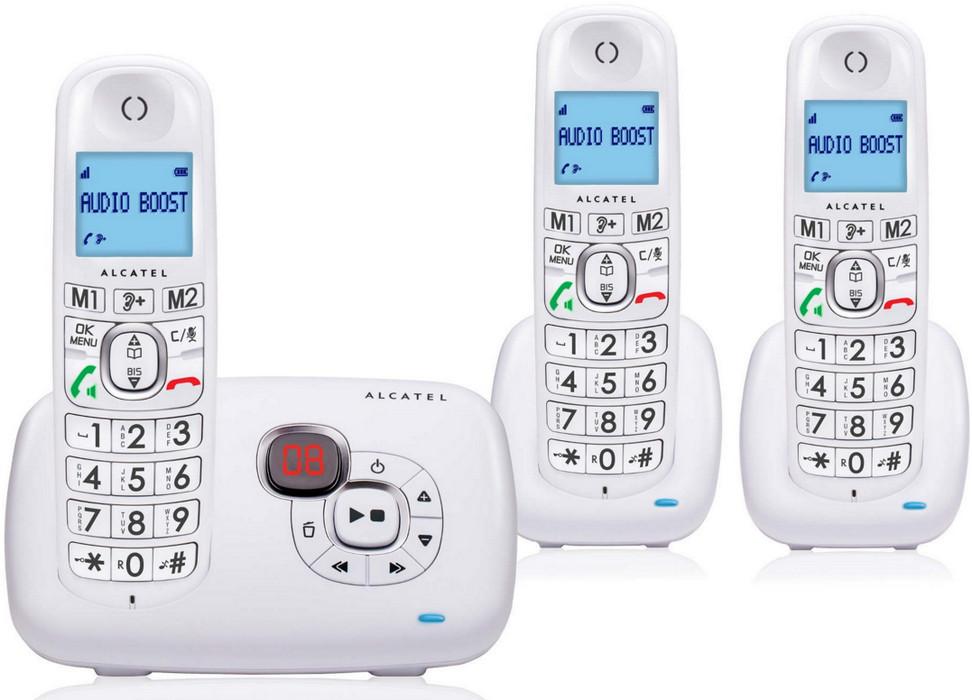 Téléphone sans fil Trio avec répondeur - XL385 - Blanc