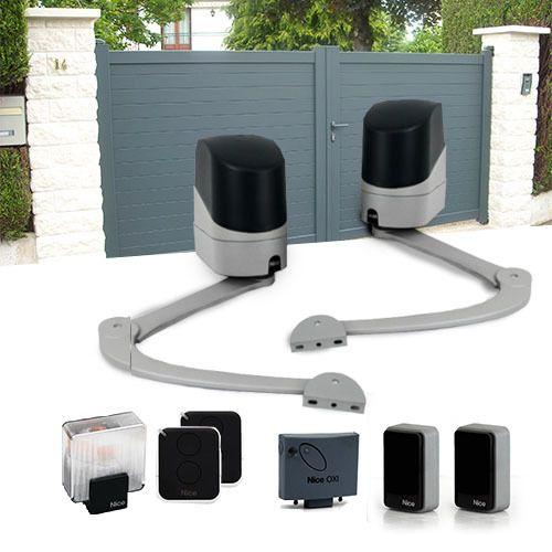 nice motorisation portail 2 battants popkit 7124 pas cher achat vente motorisation de. Black Bedroom Furniture Sets. Home Design Ideas