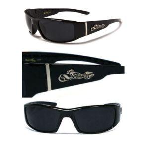 hotrodspirit - lunette de soleil choppers logo à flammes +strip gris homme CIdnxiMr3
