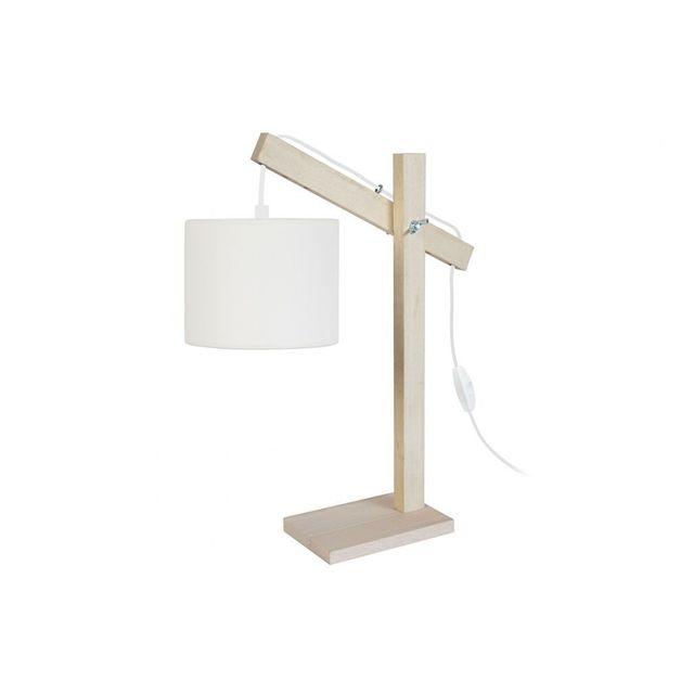 Design Gotan Bois Achat Cher Écru Poser Pas Miliboo Lampe À ON8nkXZ0wP