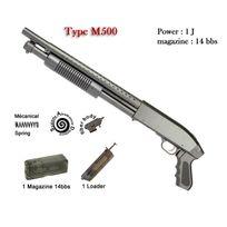 Combat Zone - Shotgun type M500 court Noir - 1J - Ressort - 6 mm Elite serie