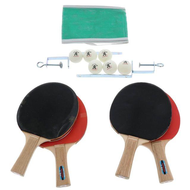 Giant Dragon - Raquette tennis de table Set 2 etoiles shooter Rouge 65140